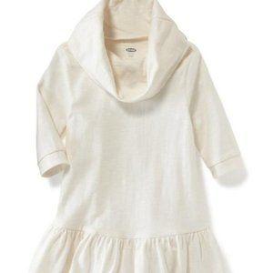 Cowl Neck Drop Waist Dress Creme de la Creme